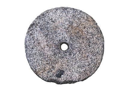 millstone on white background