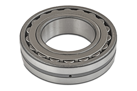 Roller bearing on white Stock Photo