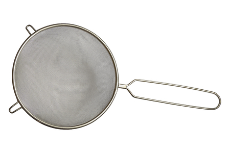kitchen sieve on white Stock Photo