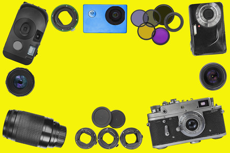 Top view photo accessories
