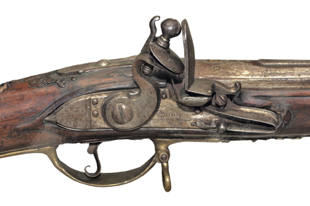 France, XVIII century, The mechanism of the old flintlock, editorial Editorial