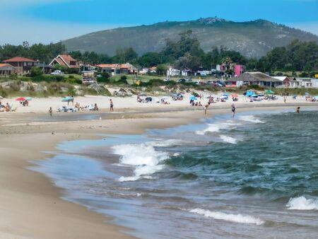 Panoramic view of Beach Beautiful, Maldonado, Uruguay ....... 版權商用圖片