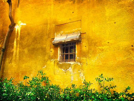 Old windows Stock Photo