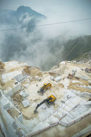 marble quarry - carrara italy Stock Photo