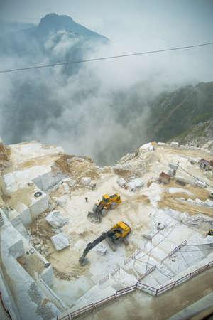marble quarry - carrara italy Stock Photo