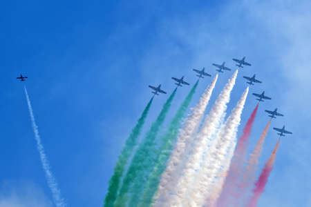 aerobatic team - tricolor arrows italy Stock Photo