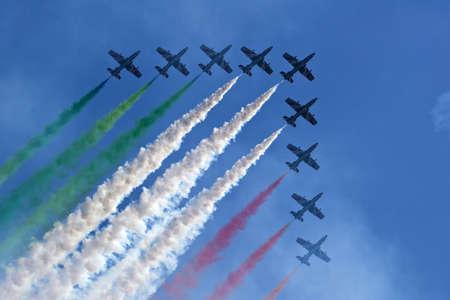 aerobatic: aerobatic team - tricolor arrows italy Stock Photo