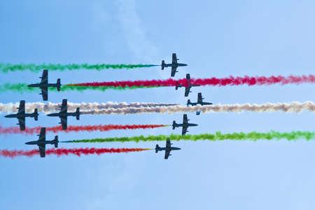 aerobatic team - tricolor arrows italy Stock Photo