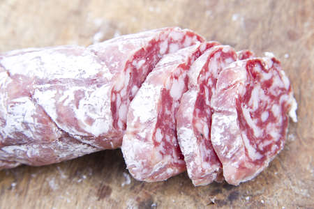 antipasto of salami and olives based Stock Photo - 10632980