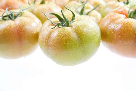 past production: tomato salad Stock Photo