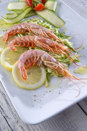 shellfish and zucchini dish photo