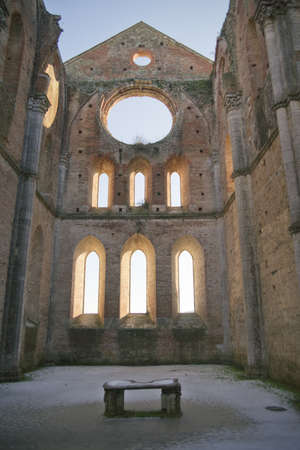 abbey of san galgano tuscany italy photo