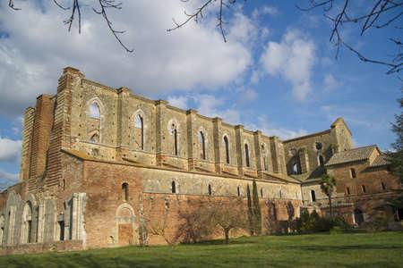 abbey of san galgano tuscany italy photo