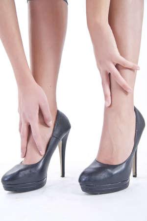 pies sexis: zapatos con tacones Foto de archivo