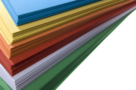 thickness: stack of colored paper