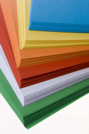 red gram: stack of colored paper