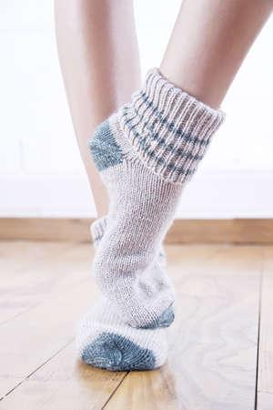 woolen stockings Stock Photo
