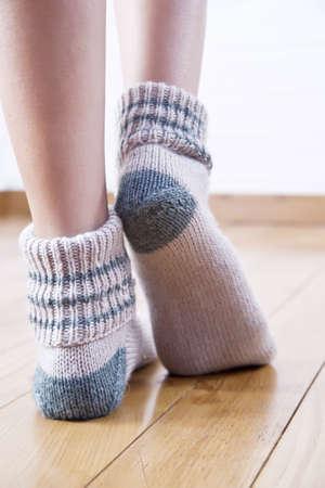 woolen stockings Standard-Bild