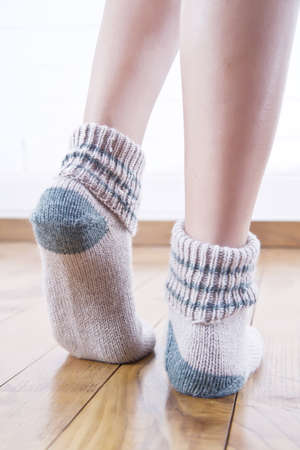 woolen stockings Stock Photo