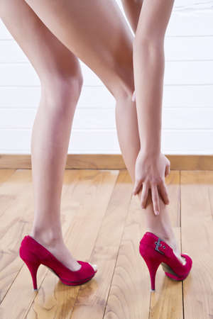 womens red shoes photo