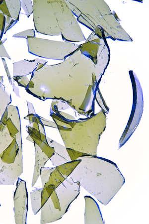 broken glass bottle Stock Photo
