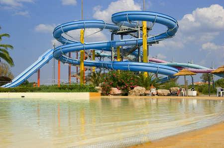 water   slide: waterpark Editorial