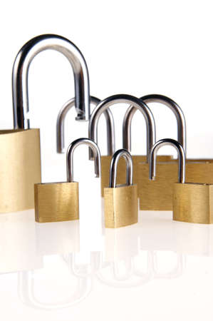 family of padlocks Standard-Bild