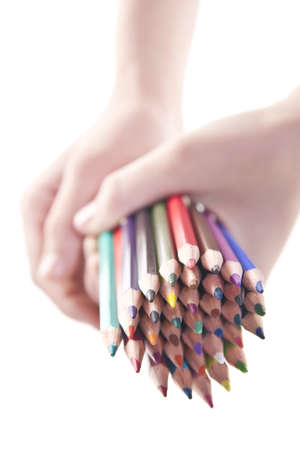 time school, colored pencils photo