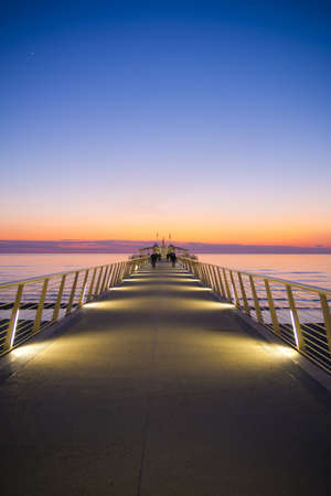 Pier at Lido di Camaiore Italy photo
