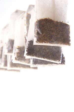 sachets: sachets for tea Stock Photo