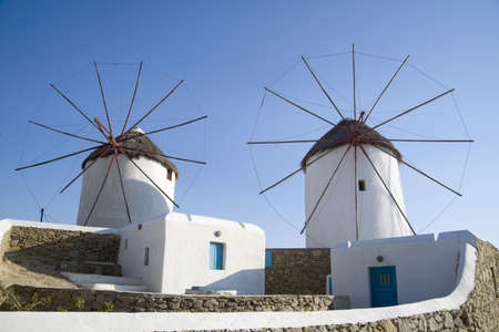 mykonos greece, windmills photo