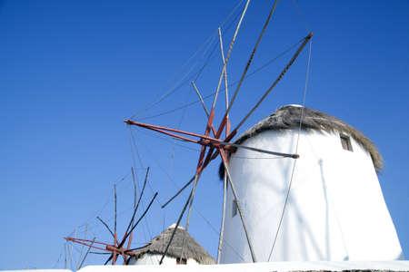 mykonos greece, windmills photo