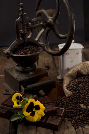 antique coffee grinder photo