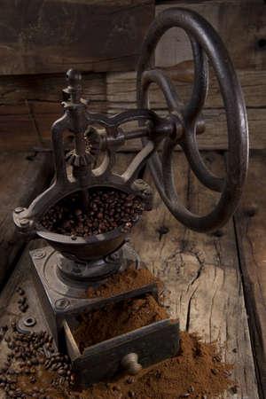 antique coffee grinder photo