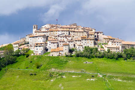 umbria: Castelluccio of Norcia Umbria Italy Stock Photo