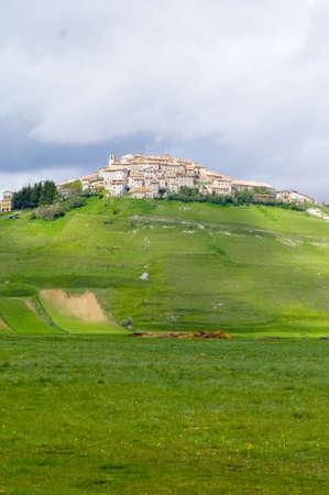 norcia: Castelluccio of Norcia Umbria Italy Stock Photo