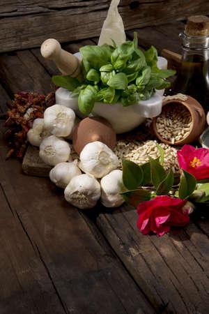 ingredients for the pesto-liguria