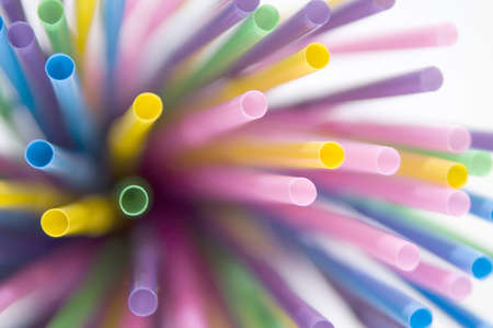 series of colored straws Stock Photo - 13170411