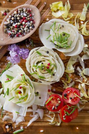 Salad of White Belgium photo