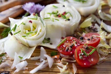 Salad of White Belgium Stock Photo - 13683757