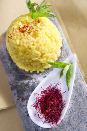 food combinations, saffron rice  photo