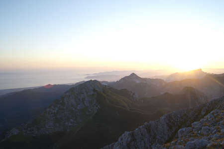 Sunset seen from the Apuan Alps