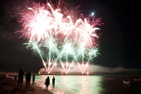 artifice: fireworks beach of Forte dei Marmi Italy