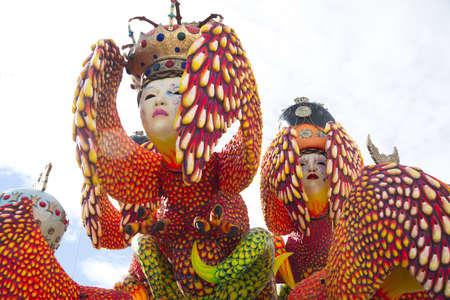carnival of Viareggio Italy Standard-Bild