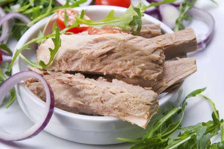 Plate of tuna steaks