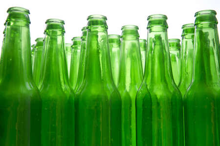 Background Made From Empty Beer Bottles