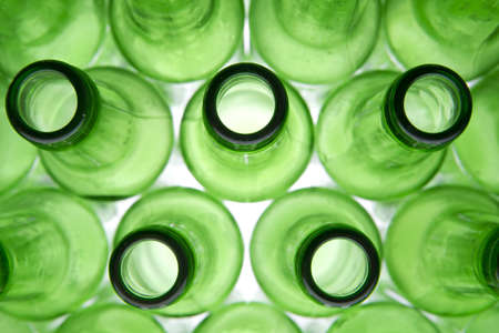 recycle glass: Background Made From Empty Beer Bottles