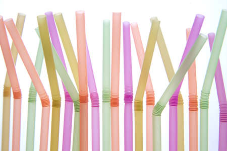 Tool For Colored Drinking Straws Stock Photo