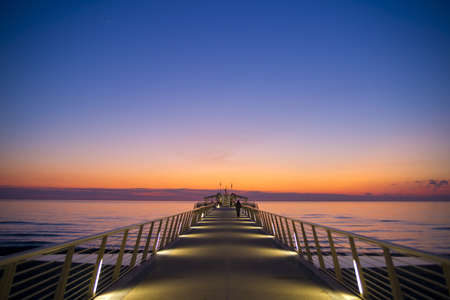 View Of The Pier At Sunset Lido Di Camaiore, Tuscany Italy