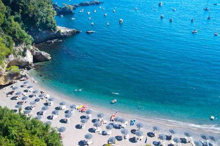 View Beach Tellaro Mittelmeer Küste von Ligurien Italien Standard-Bild - 22519461